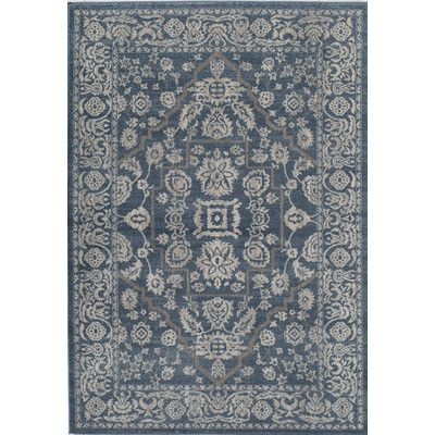 Found It At Wayfair Estelle Blue Ivory Area Rug With Images
