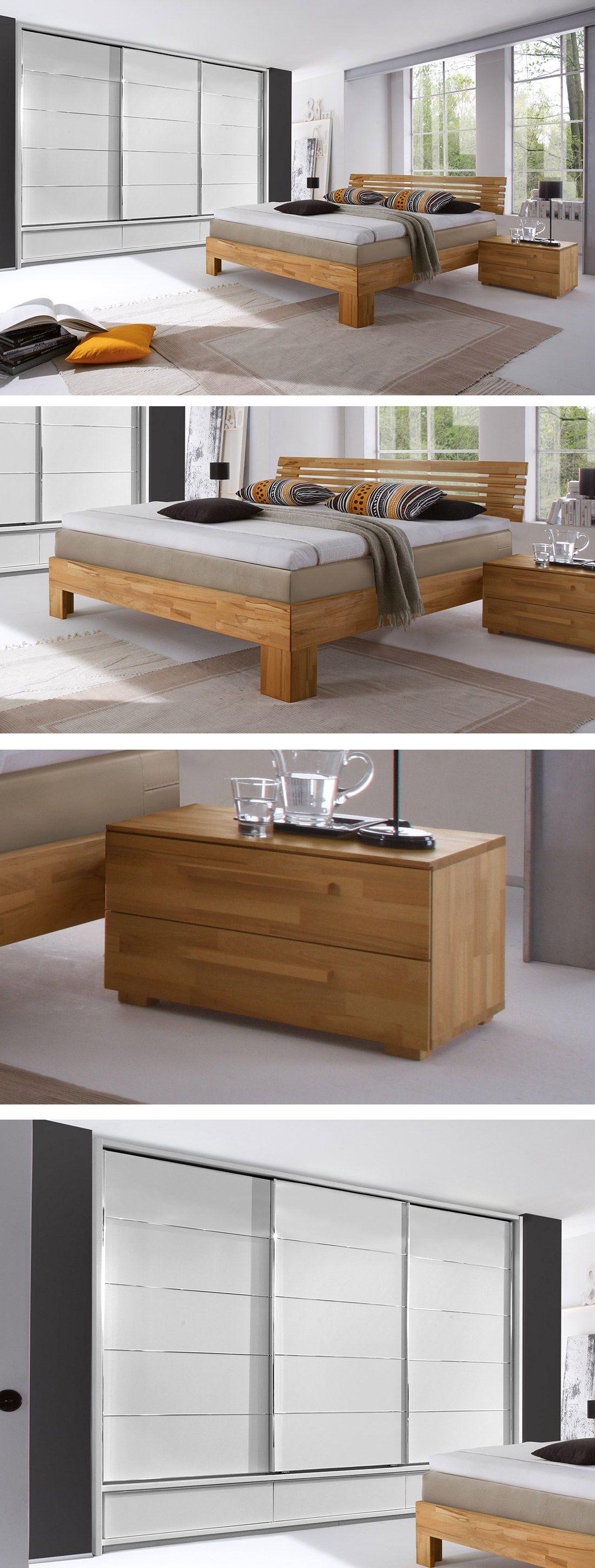 boxspring-schlafzimmer mit hochwertigen massivholzmöbeln. #massiv, Schlafzimmer entwurf