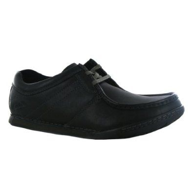 clarks role easy black leather mens shoes  black leather