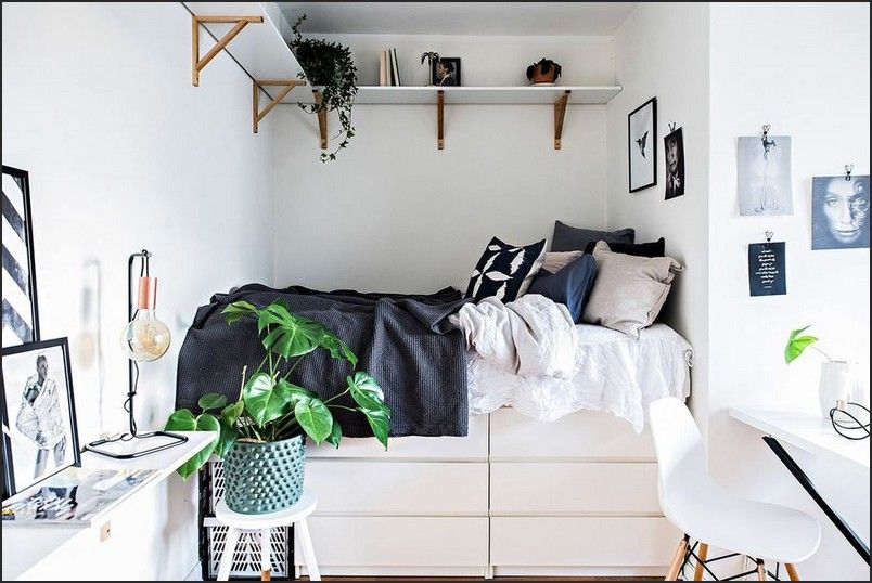 25++ Ikea bed hacks for small rooms inspirations
