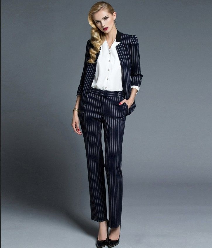Made To Measure Women's Black&white Stripe Blazer Jacket