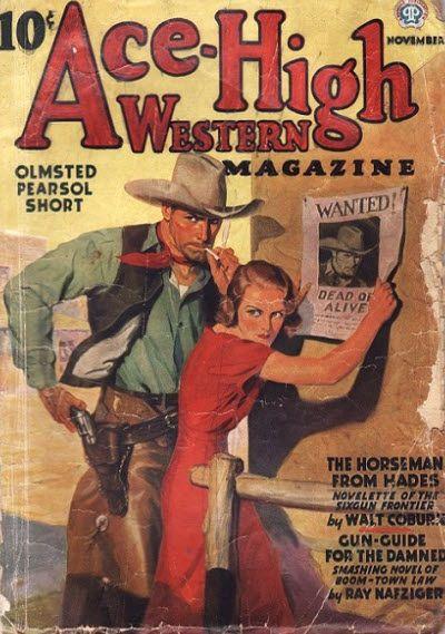 ALLEN ANDERSON - art for Nov 1936 Ace-High Western Magazine