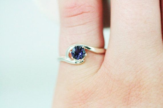 Sterling Iolite Ring from DreamyRings on Etsy.