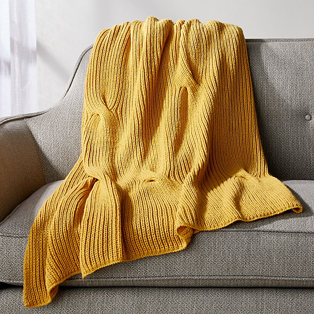 Canyon Cable Knit Throw In 2020 Cable Knit Throw Knitted Throws Yellow Throw Blanket