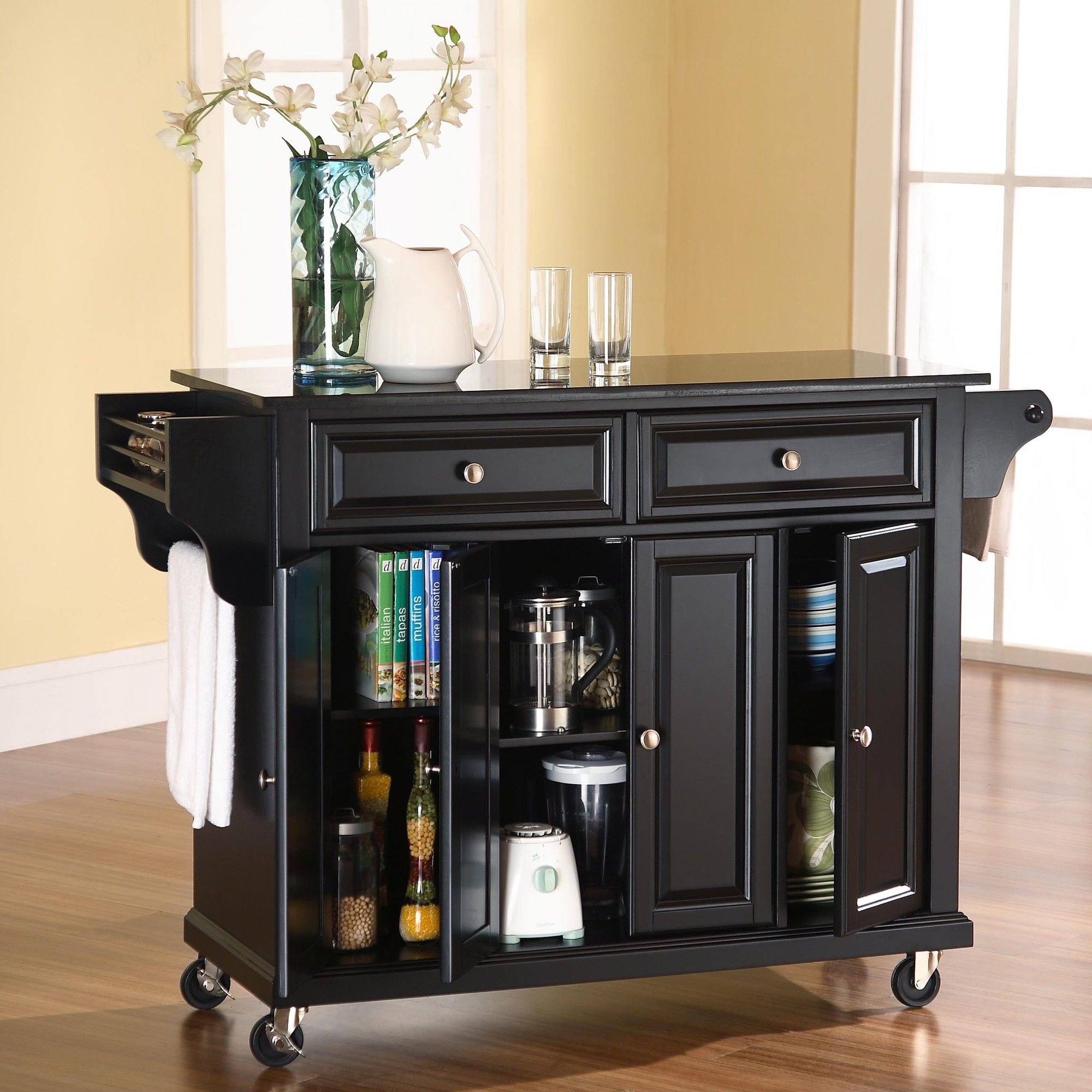 Crosley Kitchen Cart with Granite Top & Reviews | Wayfair | Kitchen ...
