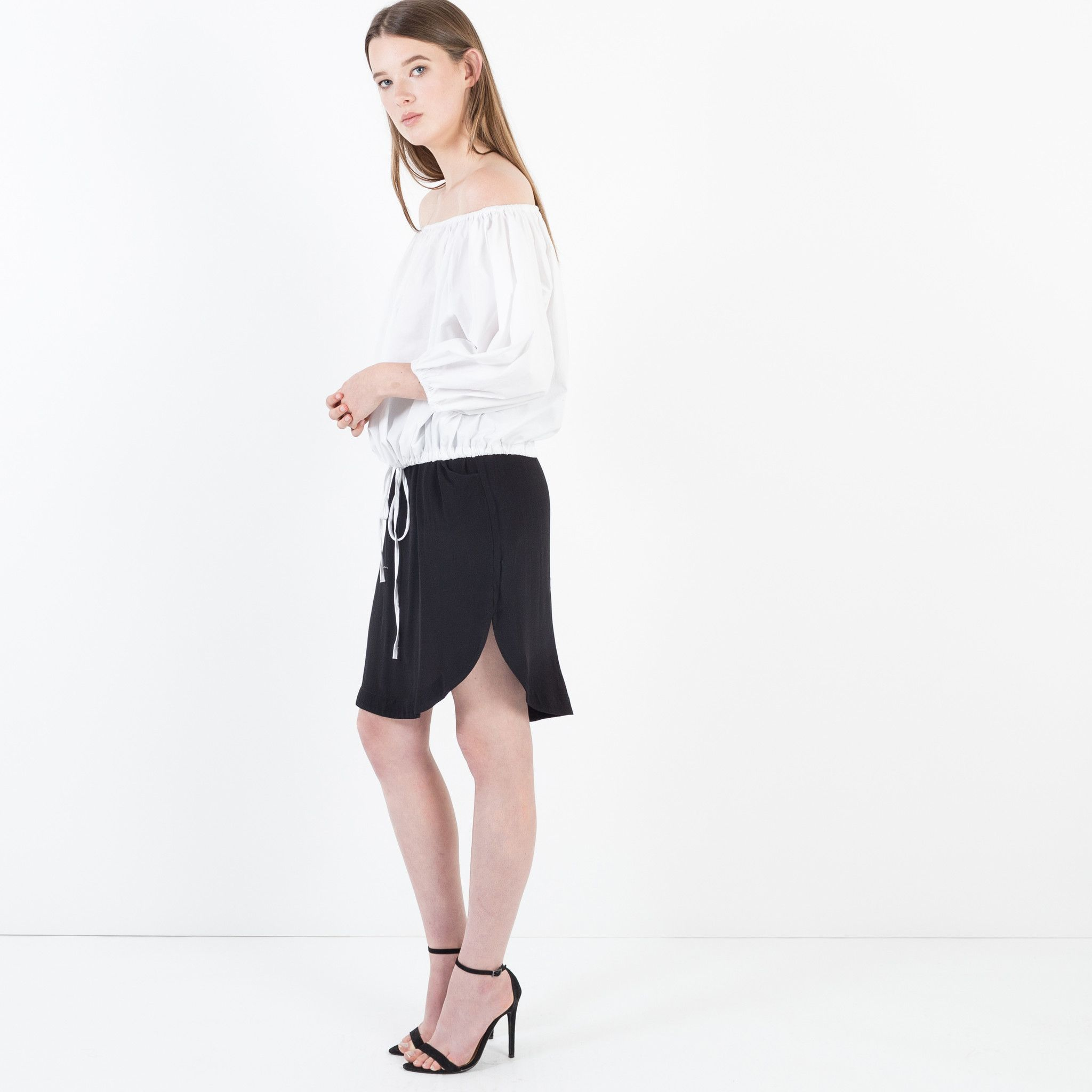 Modern Citizen  |  Janice Relaxed Pocket Skirt (Black) $68
