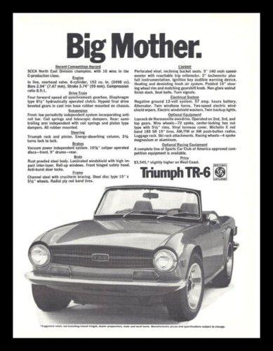 Vintage Look Reproduction Metal Sign 1972 Triumph TR-6