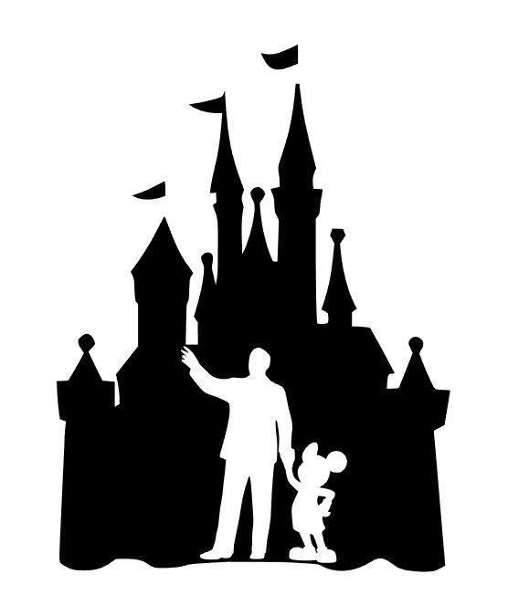 Custom Vinyl Decal Run Castle Mickey Walt Cinderella
