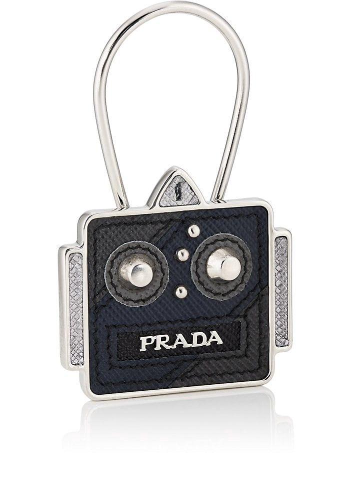 b546eb7447 PRADA Square Robot Leather Key Chain. #prada # | Prada Men | Leather ...