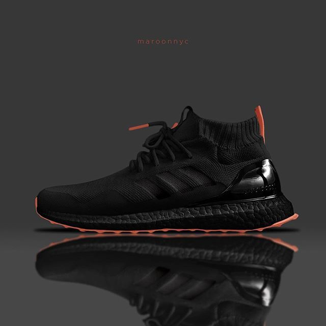 1a0032c3883 Adidas Ultraboost Mid - Crow/Coral | Shoe shoes in 2019 | Best ...