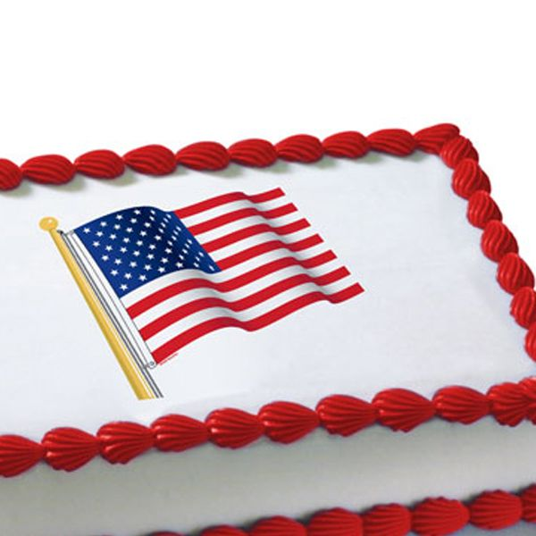 One american flag edible image cake decoration printed on for American flag decoration
