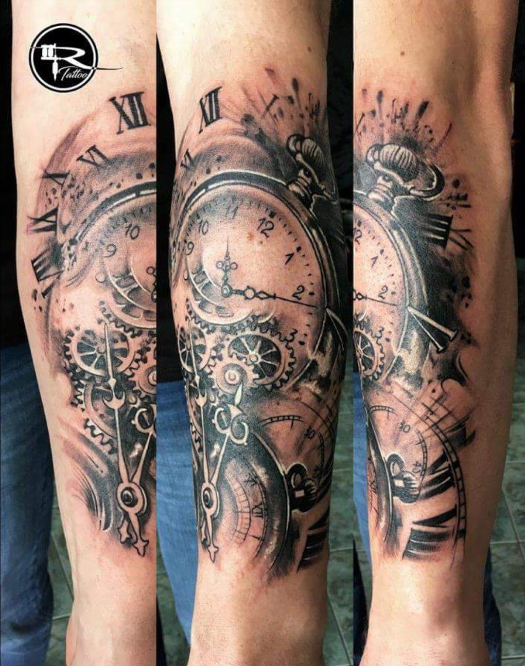 Pin von Susanne Hof auf Tattoo Unterarm Uhr Watch