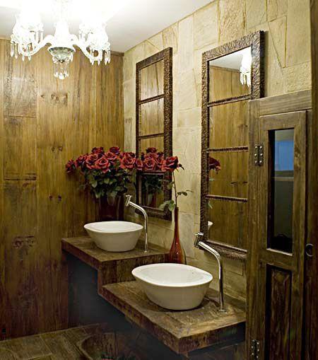 Unhas da Bruninha Decoração para lavabo rustico decoracion casa - lavabos rusticos