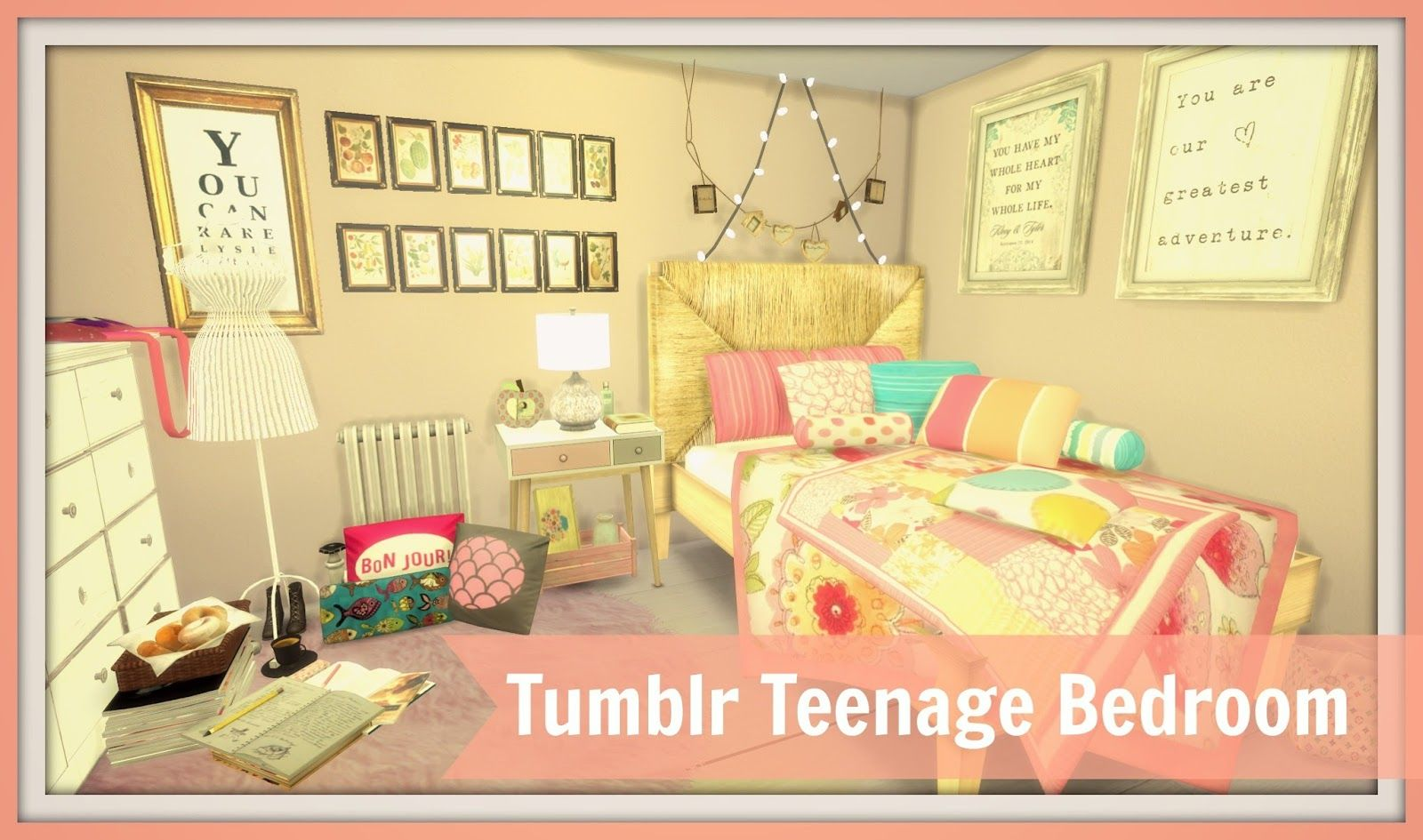 Sims 4 Tumblr Teenage Bedroom Dinha S4cc To Download