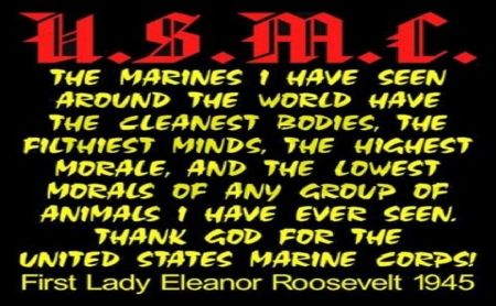 Eleanor Roosevelt Quotes Marines Alluring First Lady Eleanor Roosevelt On The U.smarine Corps