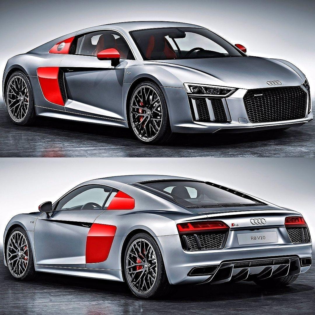 Audi R8 Coupe Audi Sport Edition 2017 Prata Vermelha E