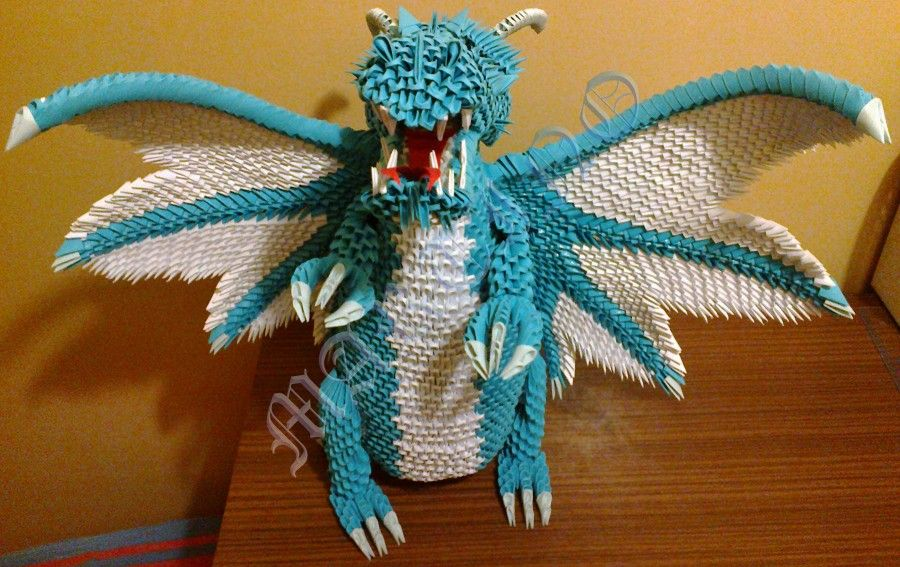 3D Origami Dragon | dragon without wings dragon angle ...