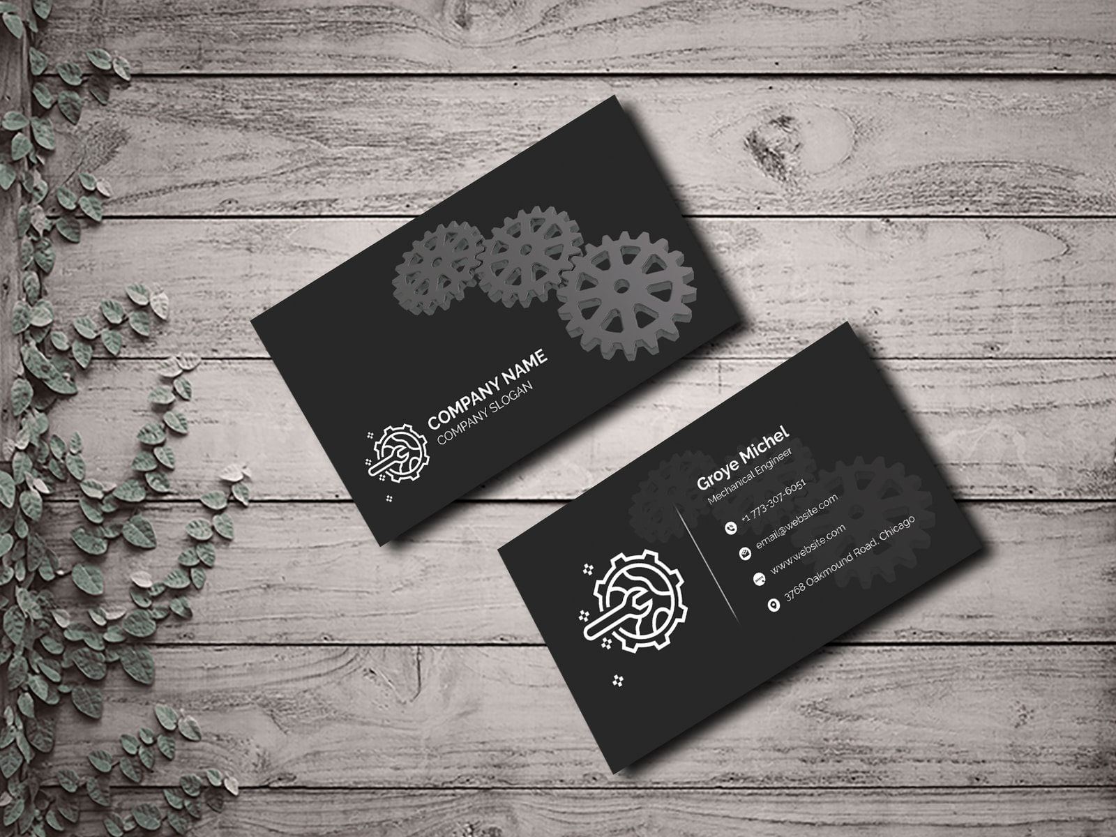 Mechanical Engineer Business Card Graphic Design Business Card Business Cards Creative Business Cards Collection
