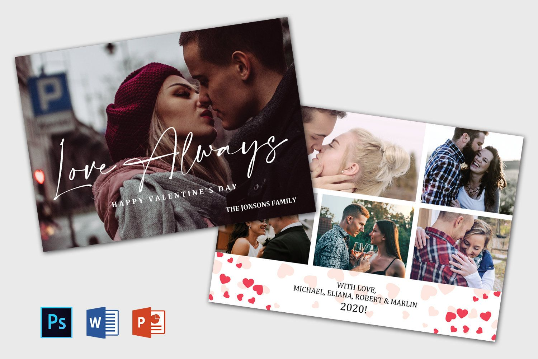 Valentine S Day Photo Card Template Valentine Greeting Etsy Photo Card Template Printable Greeting Cards Valentine Greeting Cards