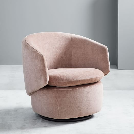 Crescent Swivel Chair West Elm Swivel Chair Contemporary Home Decor Living Room Chairs