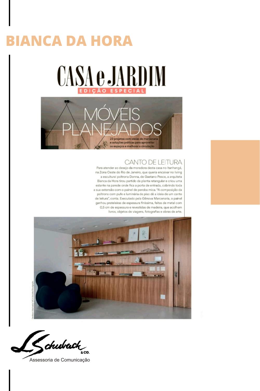Projeto assinado pelo escritório @dahoraarquitetura publicado na edição especial de móveis planejados da revista @casaejardim de maio.