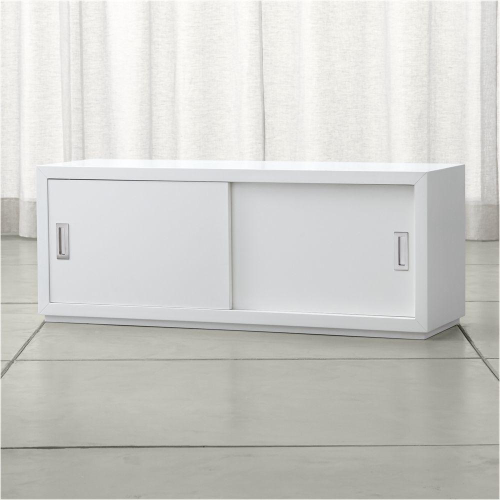Aspect White 475 Modular Sliding Door Storage Unit Door Storage