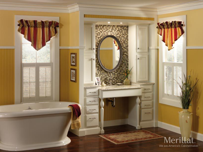 Merillat Classic® Spring Valley In Maple Chiffon With Tuscan Accent Glaze    Merillat® Cabinetry · Master Bathroom VanityMaster ...