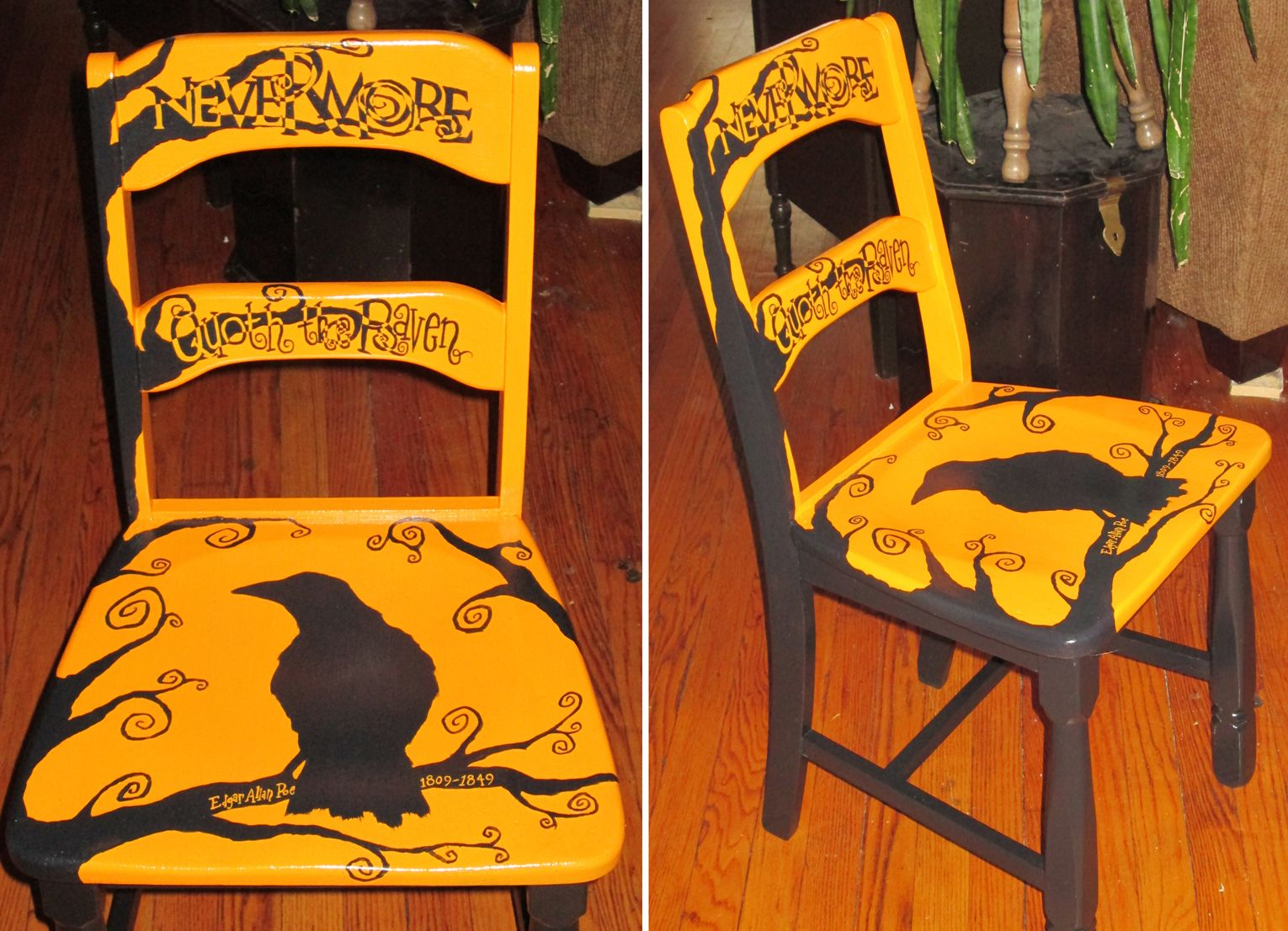 Edgar Allen Poe   The Raven Chair