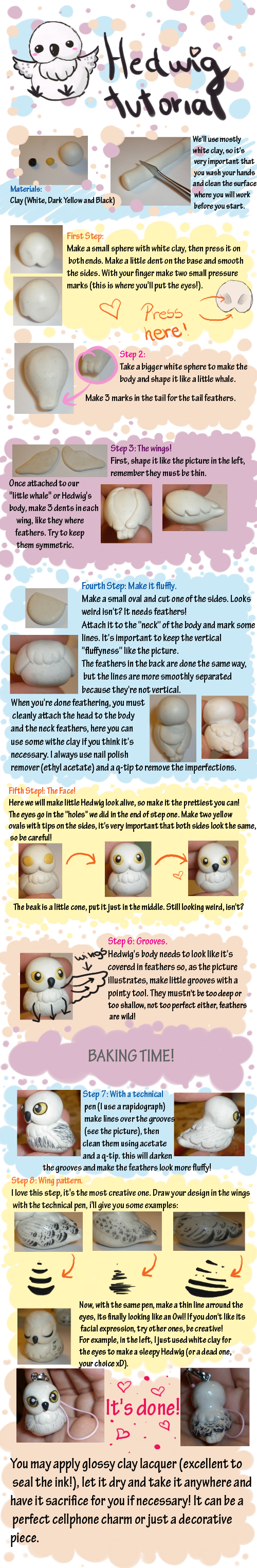 Polymere Clay Hedwig Charm...best gift idea for a fellow potter'er, plus it's cheap too!