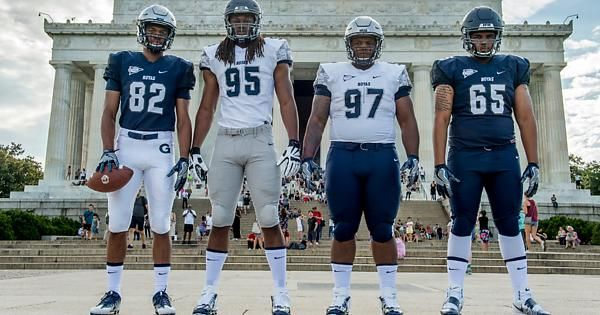 buy online 7187e 650c0 Georgetown Hoyas 2016 football uniforms | Funky Football ...