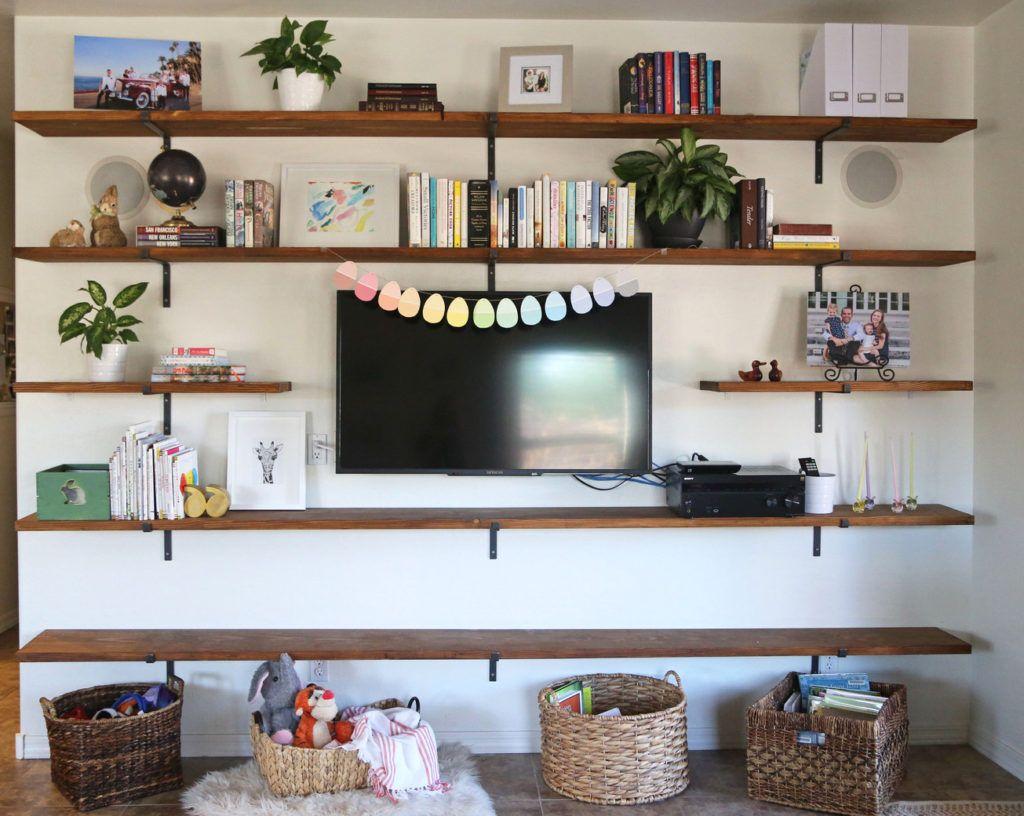 House Project Family Room Shelves Living Room Shelves Wall