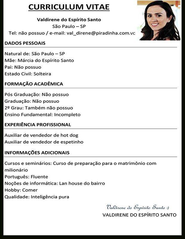Modelos De Curriculum Vitae Com Foto  Modelos De Resume