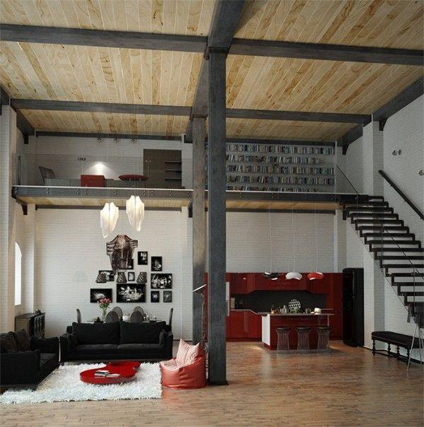 apartment design im industriellen stil loft, converted industrial spaces becomes gorgeous apartments | kitchen, Design ideen