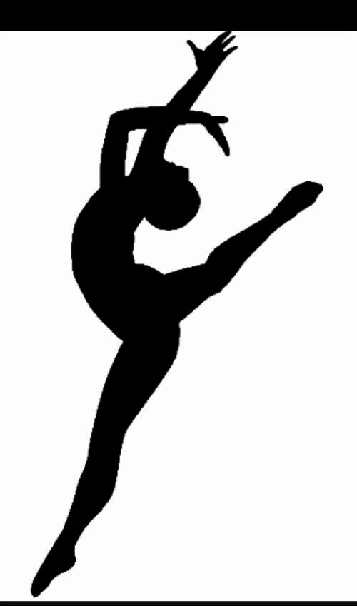 Ballerina Silhouette Stencil