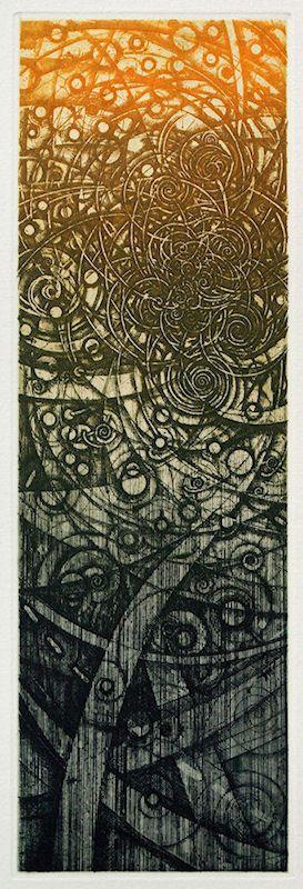 213/老子考(22)-曲則全/ Considering Lao-tse(22) ED/50 definitive edtion etching, engraving 36x11.5cm HAYASHI Takahiko 林孝彦 2016
