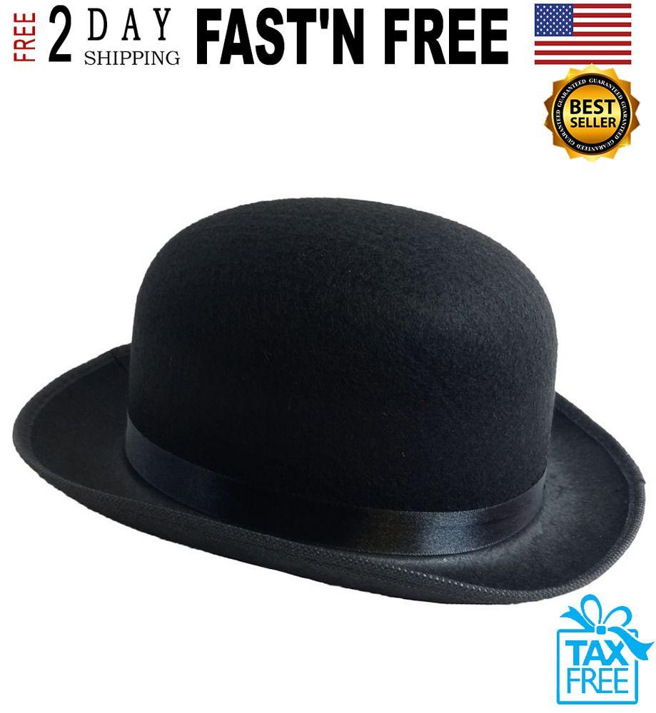 767b365d3a2 Derby Hat Traditional Black Bowler Men Fashion Felt Style Gentleman Costume  Bob  FunnyPartyHats  girls