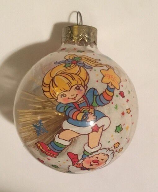 Vintage Hallmark Keepsake Glass Christmas Ornament 1985 Rainbow Brite Friends Glass Christmas Ornaments Rainbow Brite Hallmark Ornaments