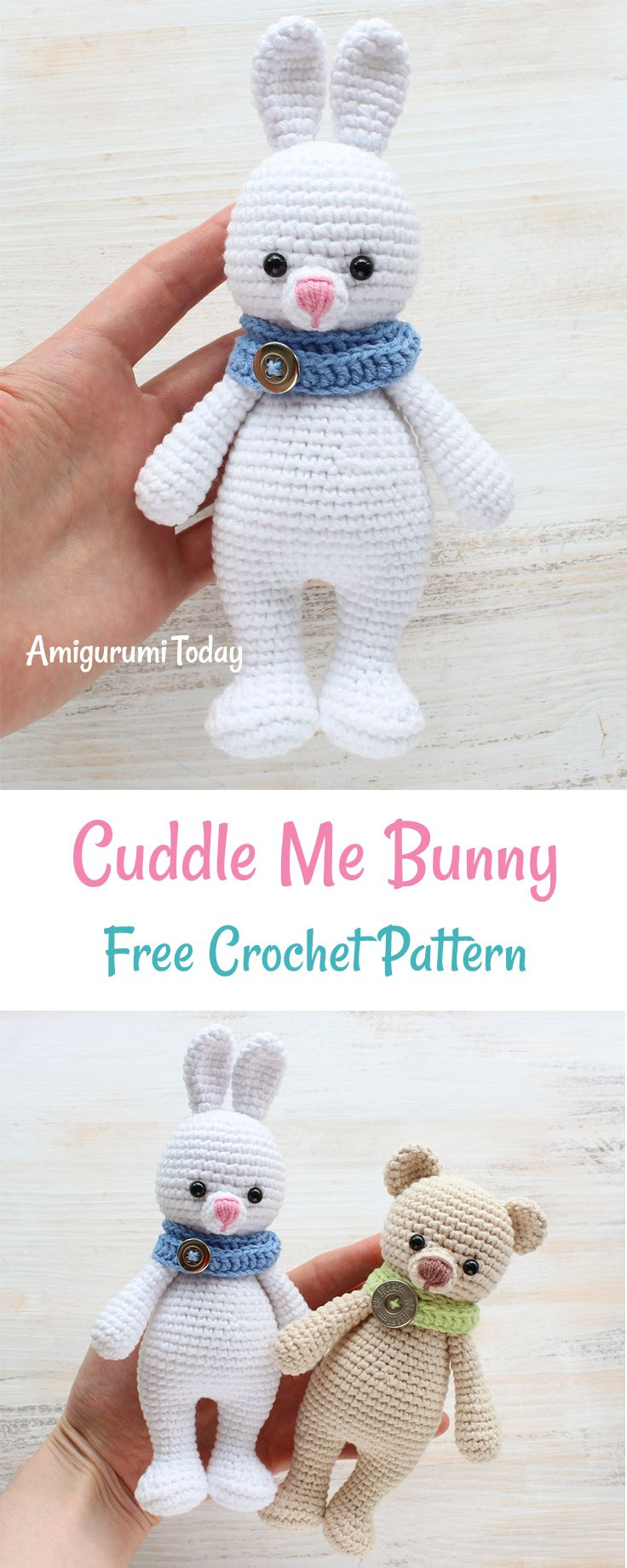 Who doesn\'t like cuddling? Soft crochet Cuddle Me Bunny is here to ...