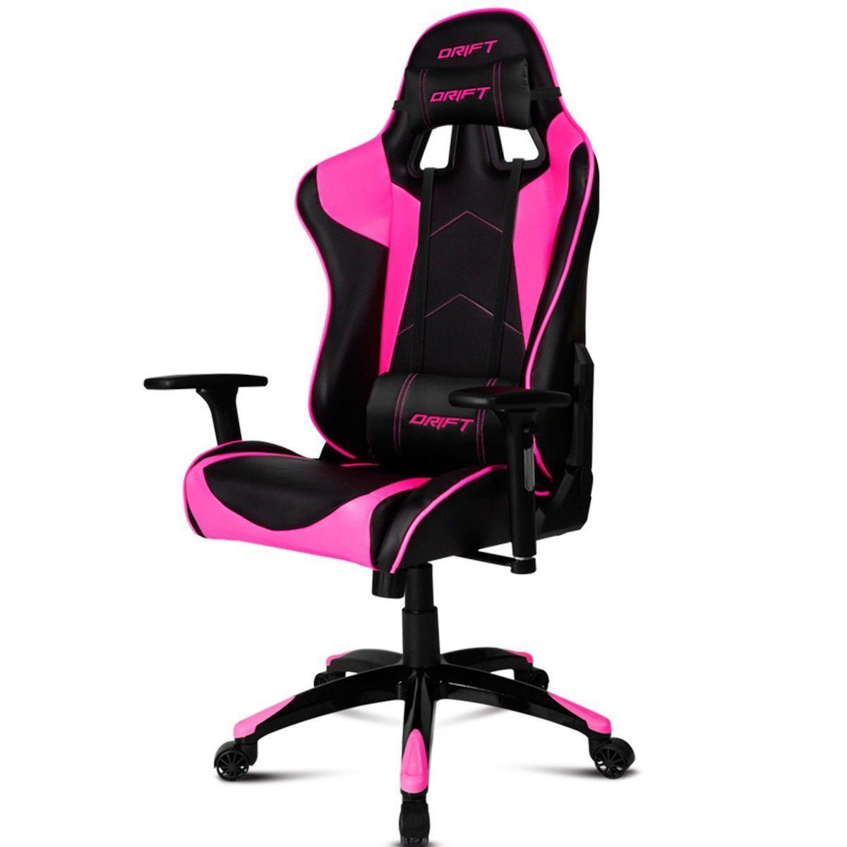Chair Gaming Drift Dr300 Black Pink Versus Gamers Chaise De Jeu Rose Noire Fauteuil