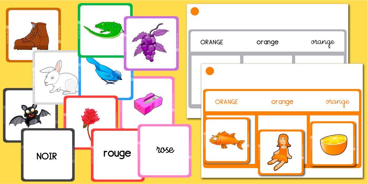 Bien-aimé Apprendre les couleurs, jeux pour apprendre les couleurs | ecole  UB71
