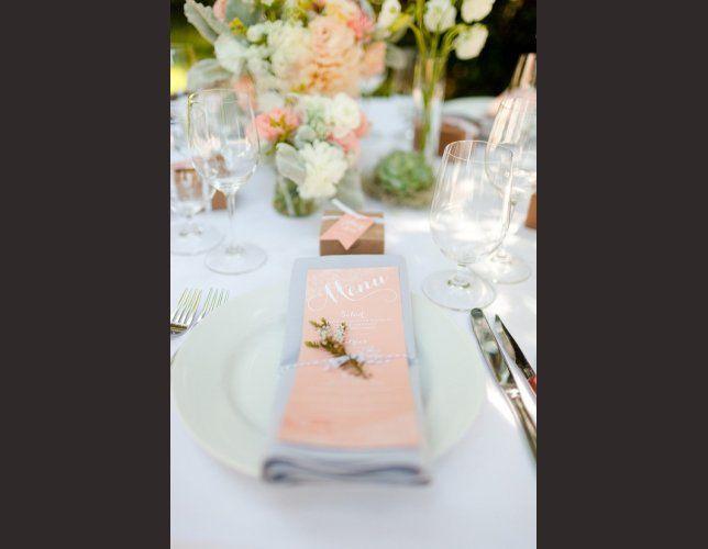 d coration de table mariage couleur p che corail mariage. Black Bedroom Furniture Sets. Home Design Ideas