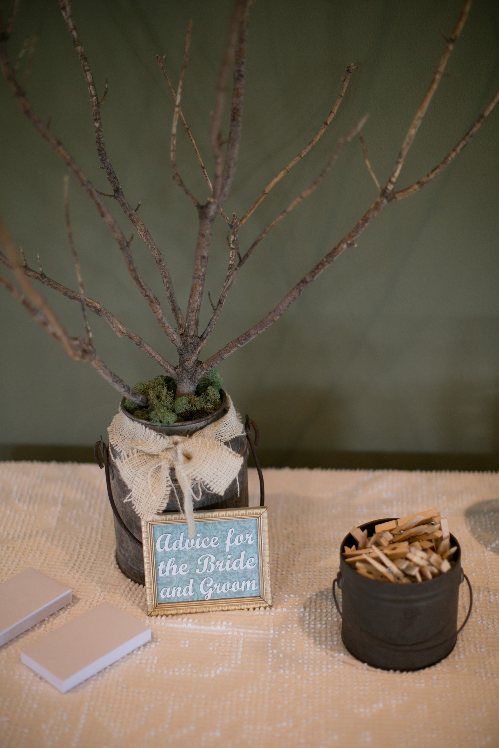 Dollar and Advice tree for vintage wedding