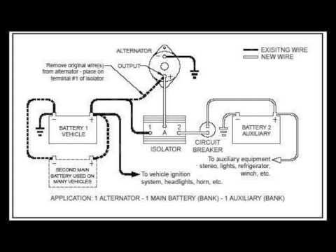 Camper Van Power My 12 Volt Battery Isolator Setup Youtube Battery Rv Battery Alternator
