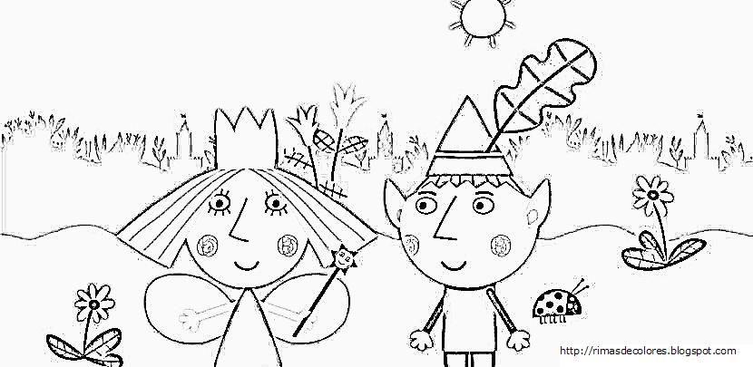 Dibujos De Ben Y Holly Para Colorear Imprimir: Dibujos Para Colorear De Ben Y Holly. Vídeos De Los