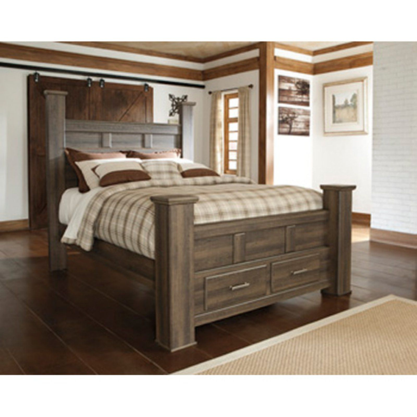 Signature Design By Ashley Juararo Poster Storage Bed Size Queen