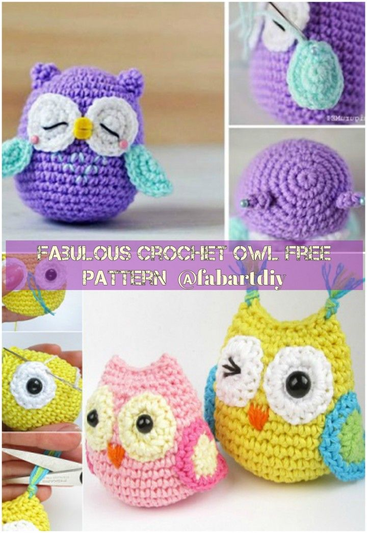 DIY Crochet Amigurumi Owl in Dress Free Pattern | Pinterest | Búhos ...