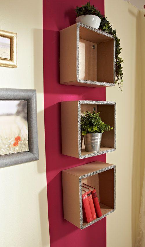 Mensole di cartone ondulato librerie fai da te home for Bricolage arredamento