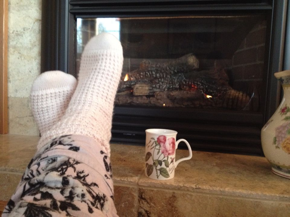 Cozy reading socks from Chapters! Add tea and a fire=happiness!