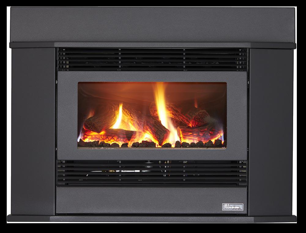 Esprit 62 Inbuilt Gas Log Fire Gas Logs Log Fires Gas Fires