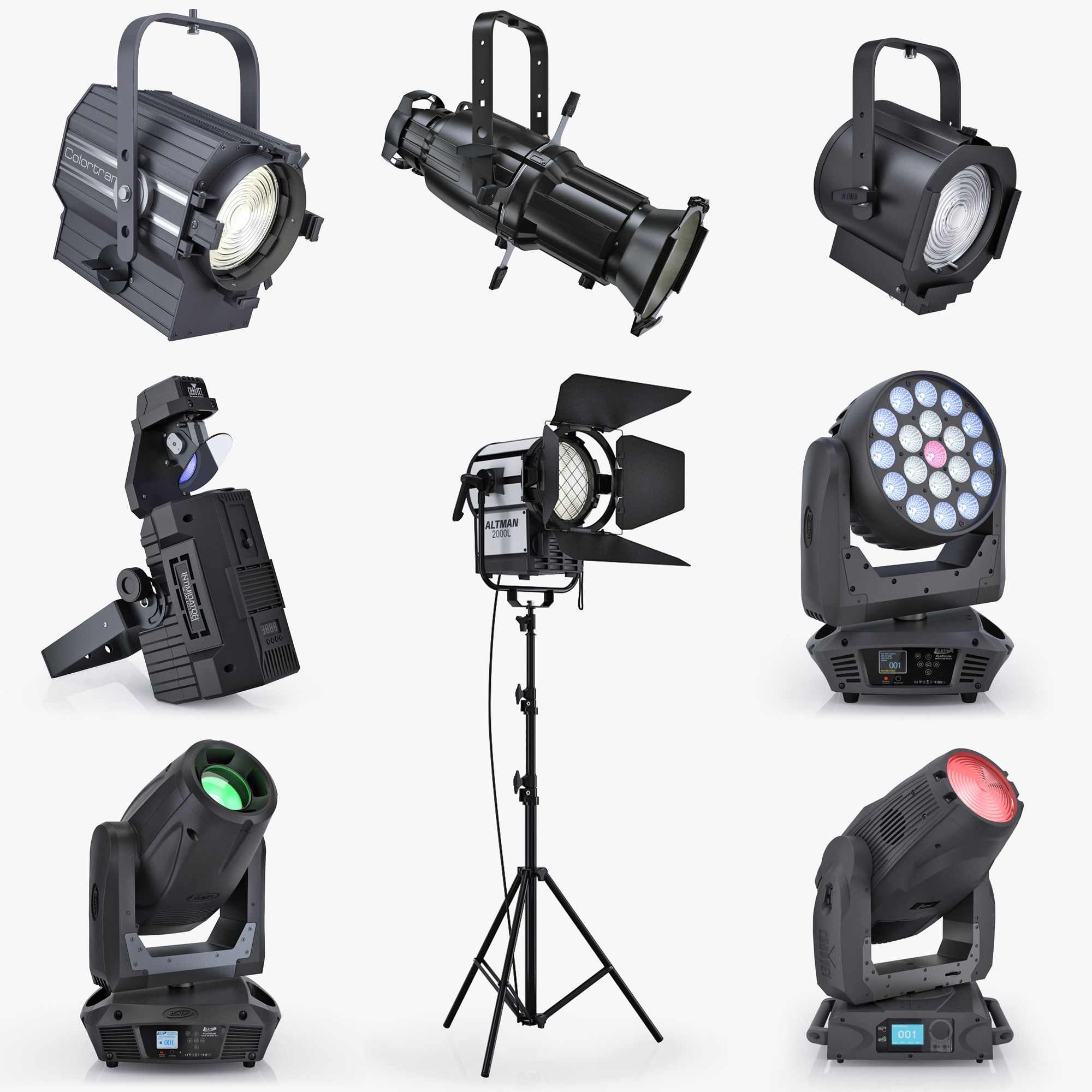 3D Stage Lights Turbo Squid | Blue Social Media Piece | Pinterest ... for Photography Lighting Equipment Names  153tgx